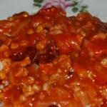 Pomidorowy sos do ryżu...