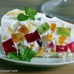 Ciasto Krysztal z owocami...