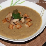 Zupa - krem z pieczarek z...