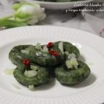 Zielone kluski bez gluten...