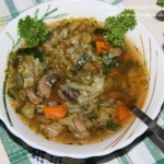 Weganska zupa kapusciana