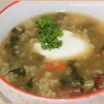 Zupa botwinkowa z ryżem...