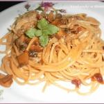 Spaghetti z pieczarkami...