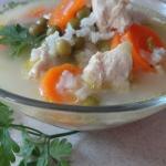 Zupa warzywna na indyku