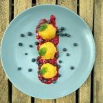 Sorbet mango-banan-cytryn...