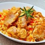 Dziki losos w curry z bul...