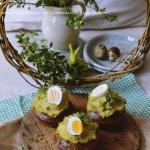 Zielone muffiny z kremem...