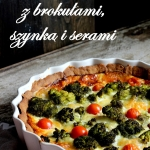 Tarta z brokułami,...