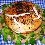 Chleb drozdzowy z farszem...