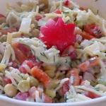 Salatka z makaronem i kab...