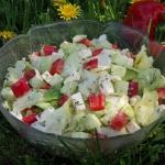 Salatka z papryka i sosem...