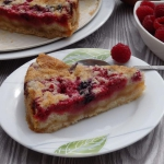 Ciasto sypane z owocami