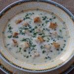Zupa serowa z serkami...