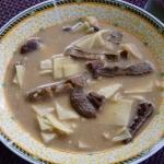 Zupa grzybowa z lazankami...