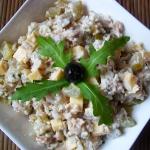 Salatka z ryzem i tunczyk...