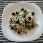 Ryż z czarnymi oliwkami...