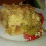 Ciasto kruche z rabarbare...