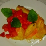 Tarta z łososiem i mango