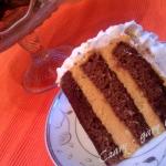 Tort kawowy z kremem...