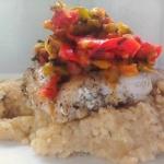 Ryba z salsą paprykową