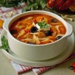 Pomidorowa zupa z baklaza...