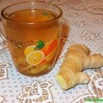Herbatka imbirowa na prze...