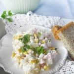 Salatka z ryzem,szynka i...