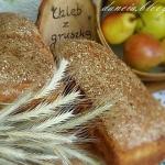 Chleb na zaczynie z grusz...