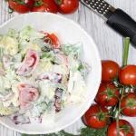 Szybka salatka z sosem cz...