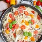 Spaghetti z polędwicą...