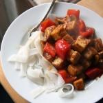 Tofu w sosie słodko...
