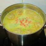 zupa warzywna z klopsem