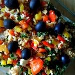 Brazowy ryz z warzywami o...
