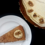 Coffee and walnut cake,...