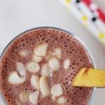 kakao + banan + płatki...