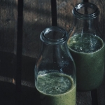zielona herbata + banan...