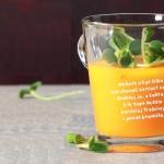 awokado + sok marchwiowy...