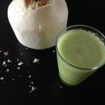 awokado + woda kokosowa