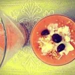 mango + banan + siemię...