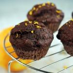 Razowe muffiny kakaowo -...