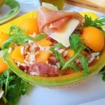 Salatka z ryzem, melonem ...