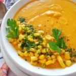 Kremowa zupa z dyni, kuku...