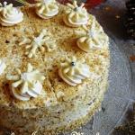 Tort miodowo-orzechowy