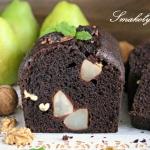 Ciasto kakaowe z gruszkam...