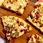 Omlet a la pizza w...