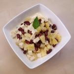Salatka z ananasem, tofu ...