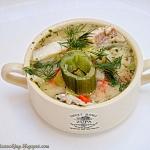 Zupa wiosenna z dorszem.