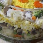 Smakowita salatka warstwo...