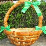 Wielkanocny koszyk z cias...