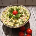 Salatka z brokul i pora
